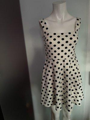 Stretch Minikleid Kleid gepunktet Gr 34 36 S