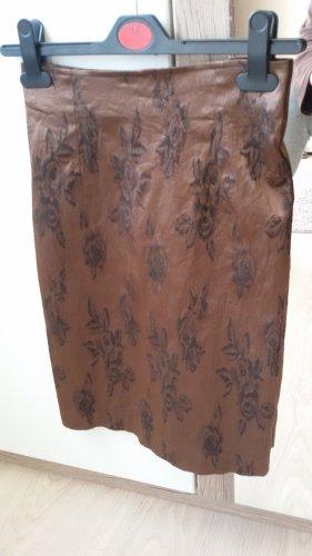 Street One Spódnica ze stretchu ciemnobrązowy-czarny