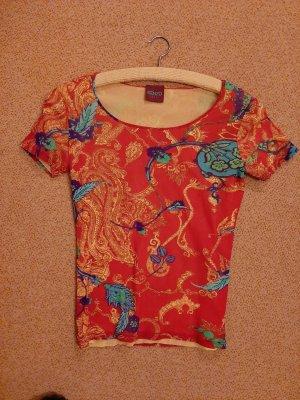 Stretch-Shirt, doppellagig mit leuchtend gelbem Untershirt, Kenzo