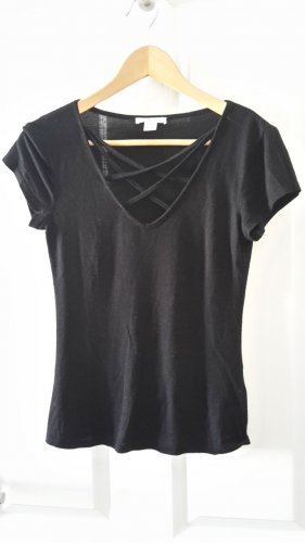 Stretch-Shirt mit hübschem Ausschnitt