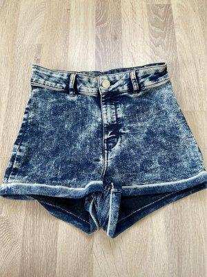 H&M Divided High-Waist-Shorts blue-slate-gray