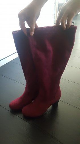 Stretch Boots brown red-blackberry-red