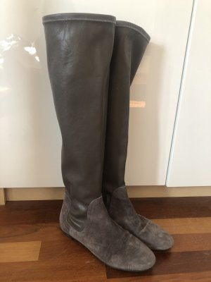 Escada Sport Slappe laarzen grijs-bruin-lichtgrijs
