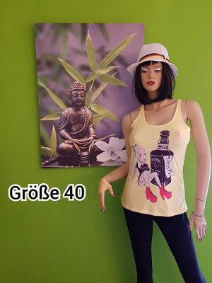 NoName Koszulka o kroju podkreślającym sylwetkę żółty