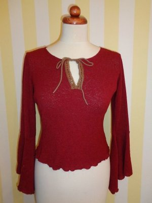 Frill Top dark red