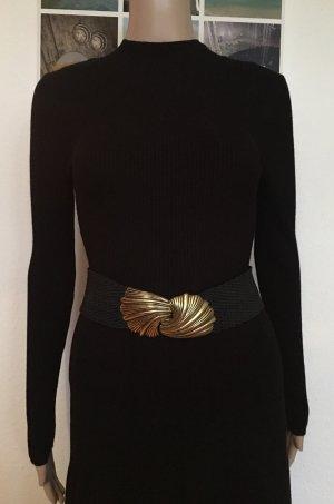 H&M Cinturón de cadera negro-color oro
