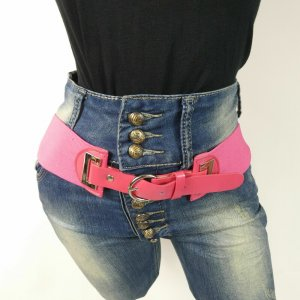 Stretchgürtel Elastisch Taillengürtel Hüftgürtel  Gürtel Pink