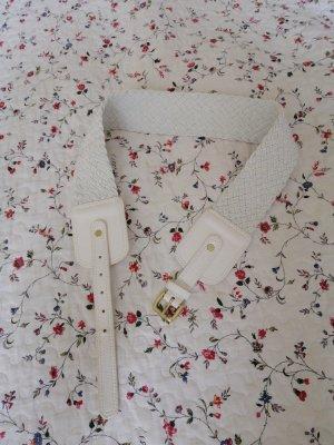 H&M Cinturón trenzado blanco