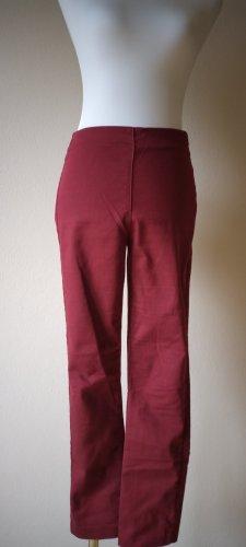 H&M Pantalon strech rouge carmin coton