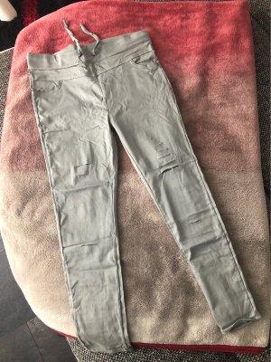 Pantalón elástico verde grisáceo