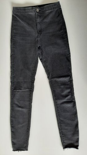 Bershka Jeans taille haute gris-gris anthracite