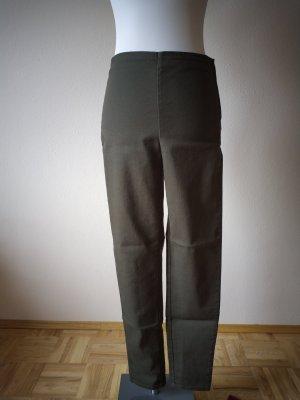 H&M Pantalon strech vert forêt-kaki
