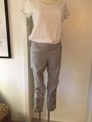Tredy Stretch Trousers light grey-silver-colored