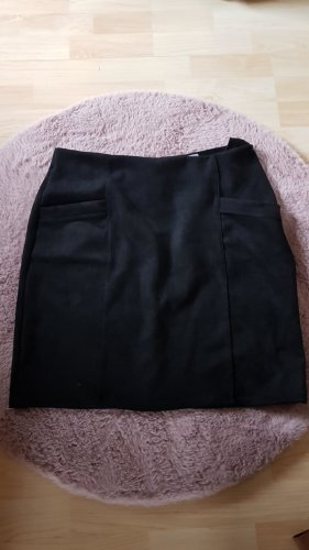 Made in Italy Stretch Skirt black polyacrylic