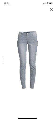 Broadway Jeans slim blanc-bleu acier