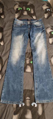 Blind Date Pantalon pattes d'éléphant bleu