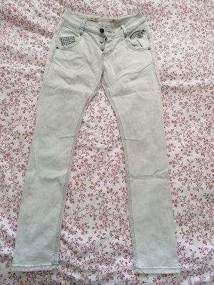 Amor, Trust & Truth Jeans met rechte pijpen lichtgrijs