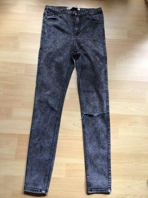 Denim Co. Stretch Trousers black-silver-colored