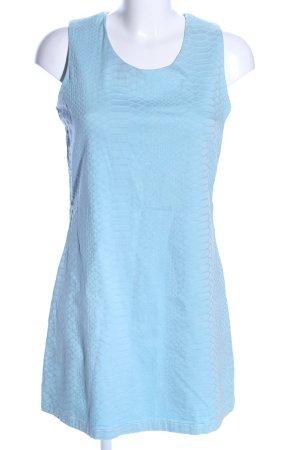 Stretch Dress blue animal pattern business style