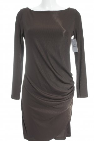 Stretch Dress brown flecked shimmery
