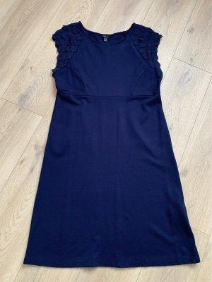 Cortefiel Stretch Dress dark blue