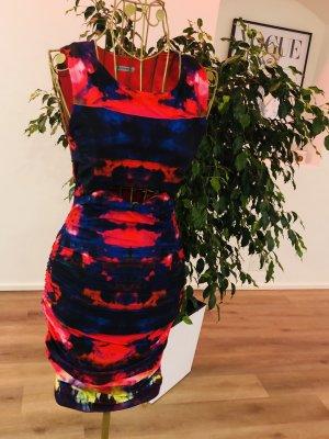Kookai Sukienka z wycięciem ciemnoniebieski-czerwony neonowy