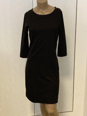 Sukienka ze stretchu czarny Poliamid