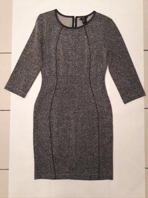 Stretchkleid in grau meliert enges Kleid figurbetont langarm von Lana del Ray x H&M Gr. S, Neu