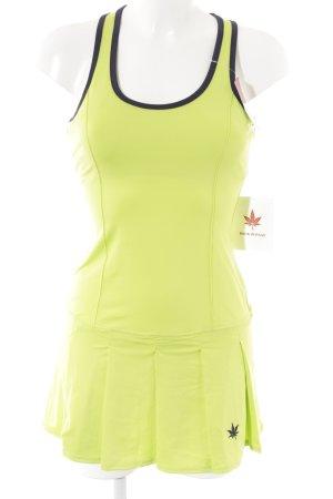 Stretchkleid neongrün-blau sportlicher Stil