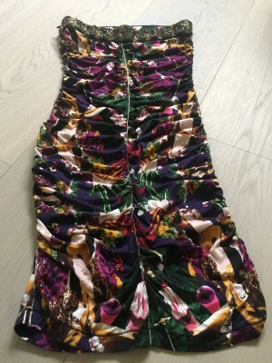 Custo Barcelona Vestido bandeau violeta