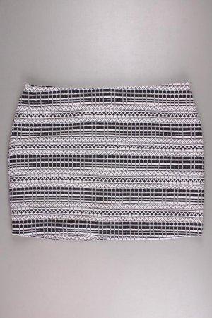 Stretchrock Größe 44 creme aus Baumwolle