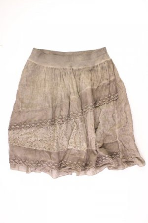Spódnica ze stretchu oliwkowy Bawełna
