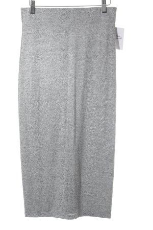 Spódnica ze stretchu jasnoszary Melanżowy W stylu casual