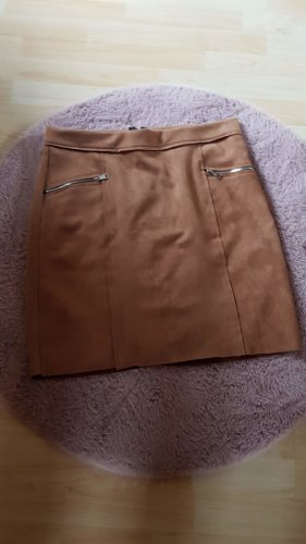 Made in Italy Stretch Skirt cognac-coloured-russet