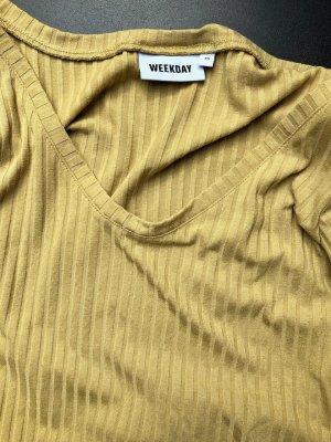 Weekday Chemise côtelée jaune foncé