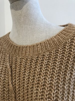 Zara Coarse Knitted Jacket brown
