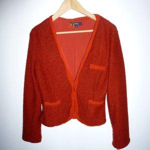 Comma Knitted Blazer russet polyacrylic