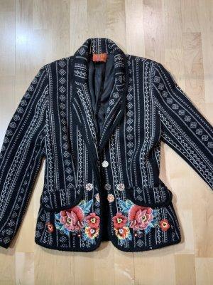 kenzo jungle Blazer in maglia nero-bianco
