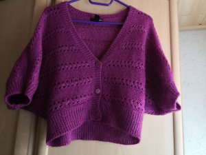 H&M Gebreide bolero violet Mohair