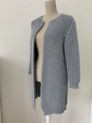 Anna Justper Knitted Cardigan pale blue wool