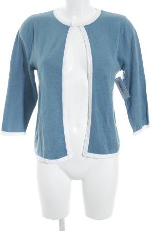 Strick Cardigan blau-weiß Elegant