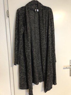 H&M Divided Cappotto a maglia grigio scuro-antracite