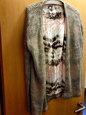 Marc Aurel Crochet Cardigan beige mixture fibre