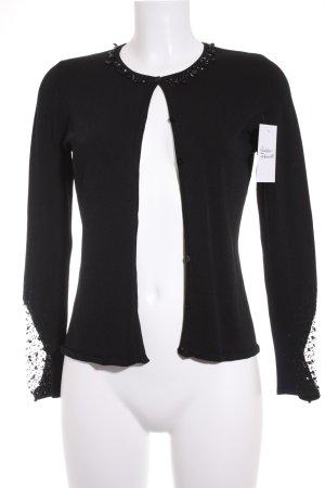 Strick Cardigan schwarz klassischer Stil