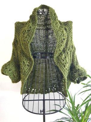 Cardigan in maglia verde bosco