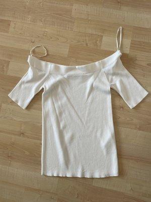 Hallhuber Donna Koszula typu carmen w kolorze białej wełny-jasnobeżowy