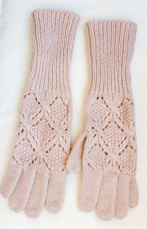 Strick Handschuhe rose