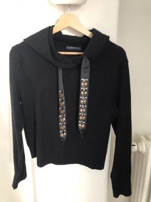 Strick-Hoodie mit Perlenbändern von ZARA