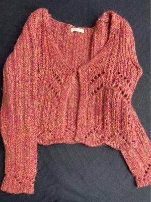 Promod Veste en laine multicolore