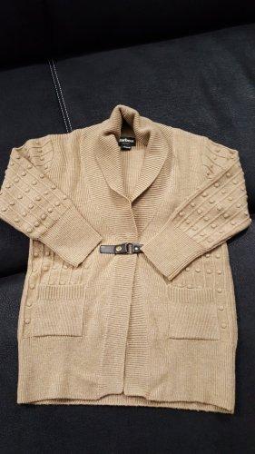 Barbour Giacca in maglia marrone chiaro-marrone Lana